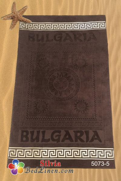 Плажна кърпа България - тъмно кафява